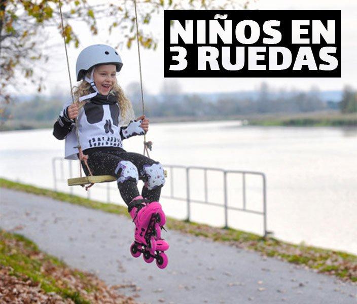 TRISKATE: NIÑOS EN PATINES DE 3 RUEDAS.